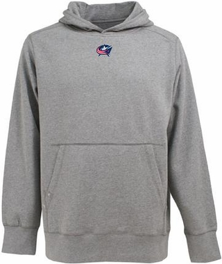 Columbus Blue Jackets Mens Signature Hooded Sweatshirt (Color: Gray)