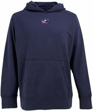 Columbus Blue Jackets Mens Signature Hooded Sweatshirt (Team Color: Navy)