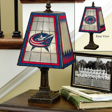Columbus Blue Jackets Small Art Glass Lamp