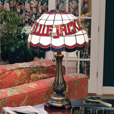 Columbus Blue Jackets Stained Glass Table Lamp