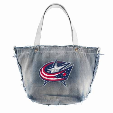 Columbus Blue Jackets Vintage Tote (Denim)