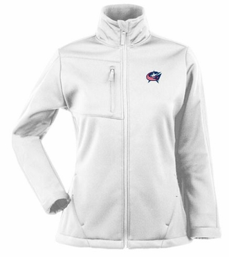 Columbus Blue Jackets Womens Traverse Jacket (Color: White)