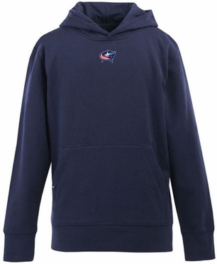 Columbus Blue Jackets YOUTH Boys Signature Hooded Sweatshirt (Team Color: Navy)