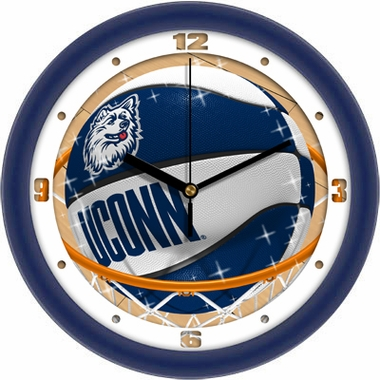 Connecticut Slam Dunk Wall Clock