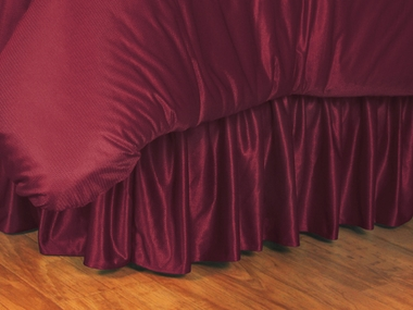 Cordovan Jersey Material Bedskirt