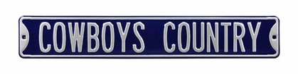 Cowboys Country Street Sign