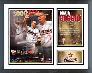 Craig Biggio 3000th Hit 06/28/07 /  Framed Milestones & Memories