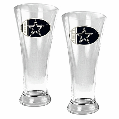 Dallas Cowboys 2 Piece Pilsner Glass Set