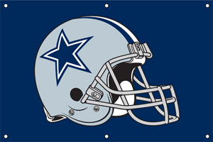 Dallas Cowboys 2 x 3 Horizontal Applique Fan Banner