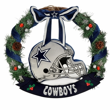 "Dallas Cowboys 20"" Helmet Door Wreath"