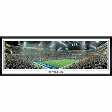 Dallas Cowboys 20 Yard Line Framed Panoramic Print