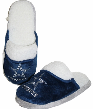Dallas Cowboys 2012 Womens Team Color Sherpa Glitter Slippers