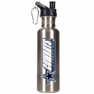 Dallas Cowboys 26oz Stainless Steel Water Bottle (Silver)