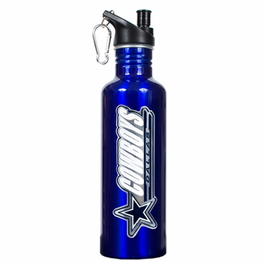 Dallas Cowboys 26oz Stainless Steel Water Bottle (Team Color)