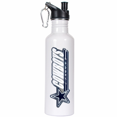 Dallas Cowboys 26oz Stainless Steel Water Bottle (White)