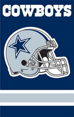 Dallas Cowboys Applique Banner Flag