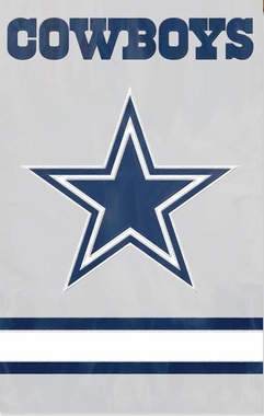 Dallas Cowboys Applique Banner Flag (Alternate)