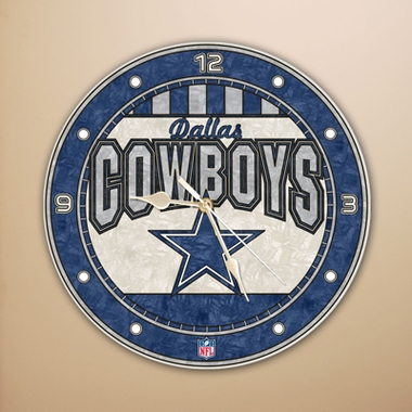 Dallas Cowboys Art Glass Clock