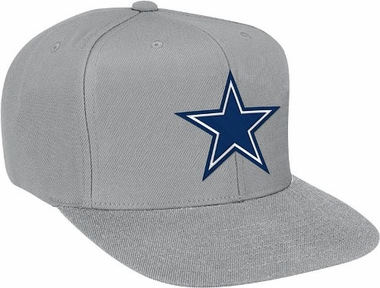 Dallas Cowboys Basic Logo Snap Back Hat (Grey)