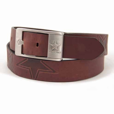 Dallas Cowboys Brown Leather Brandished Belt
