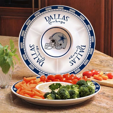 Dallas Cowboys Ceramic Chip and Dip Plate