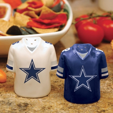 Dallas Cowboys Ceramic Jersey Salt and Pepper Shakers
