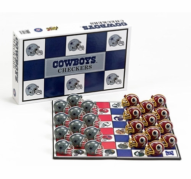 Dallas Cowboys Checkers Set