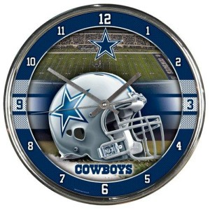Dallas Cowboys Chrome Clock
