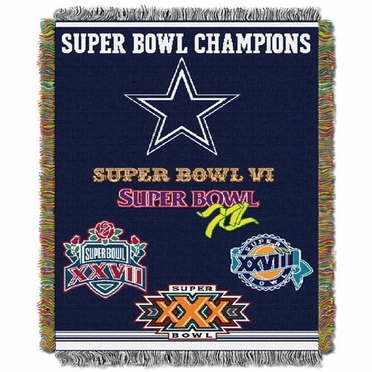 Dallas Cowboys Commerative Jacquard Woven Blanket