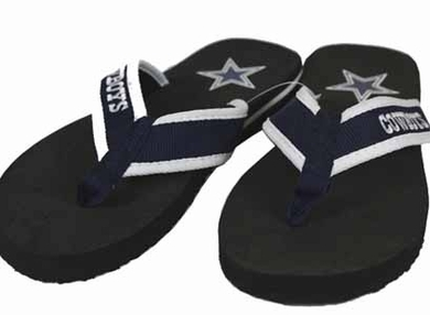 Dallas Cowboys Contoured Flip Flop Sandals - Large