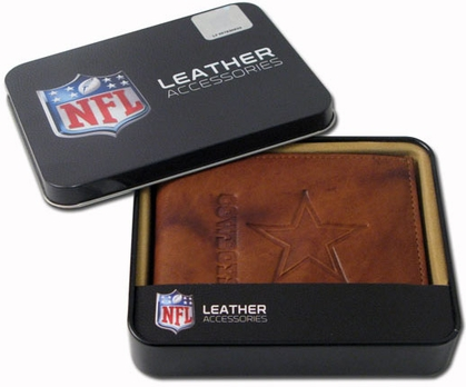 Dallas Cowboys Embossed Leather Bifold Wallet