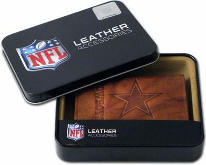 Dallas Cowboys Embossed Leather Trifold Wallet