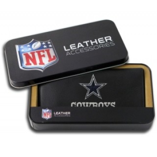 Dallas Cowboys Embroidered Leather Checkbook Cover
