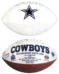 Dallas Cowboys Embroidered Signature Series Football
