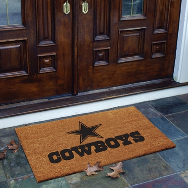 Dallas Cowboys Flocked Coir Doormat