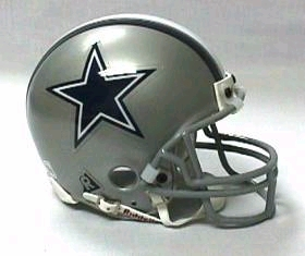 Dallas Cowboys Replica Mini Helmet w/ Z2B Face Mask