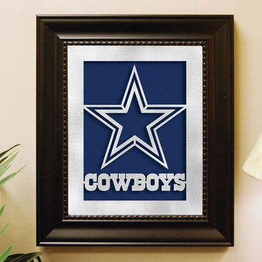 Dallas Cowboys Framed Laser Cut Metal Wall Art