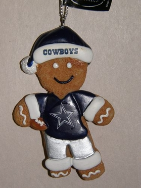 Dallas Cowboys Gingerbread Man Christmas Ornament