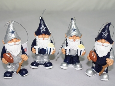 Dallas Cowboys Gnome Ornament 4 Pack