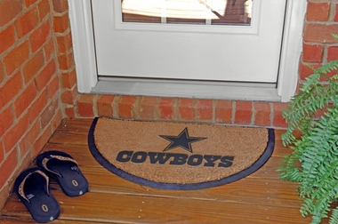 Dallas Cowboys Half Moon Door Mat