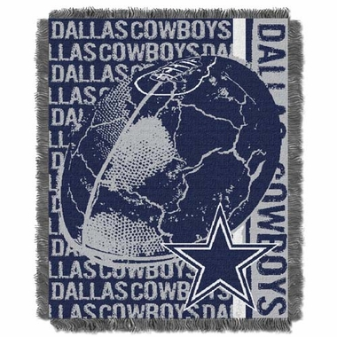 Dallas Cowboys Jacquard Woven Throw Blanket