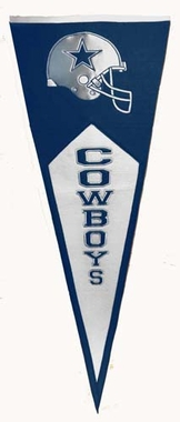 Dallas Cowboys Large Wool Pennant
