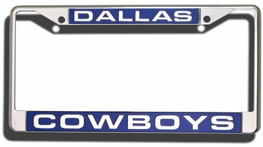 Dallas Cowboys Laser Etched Chrome Lisense Plate Frame