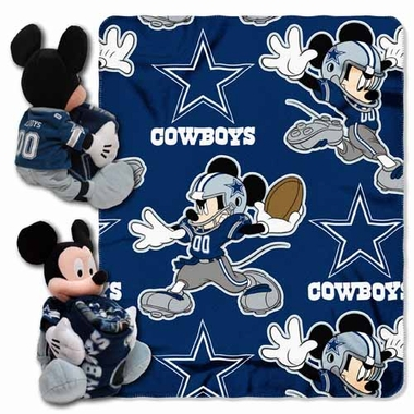 Dallas Cowboys Mickey Mouse Pillow / Throw Combo