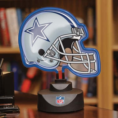Dallas Cowboys Neon Display Helmet