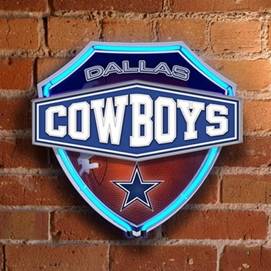 Dallas Cowboys Neon Shield Wall Lamp