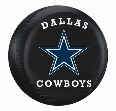Dallas Cowboys Black Tire Cover - Size Large