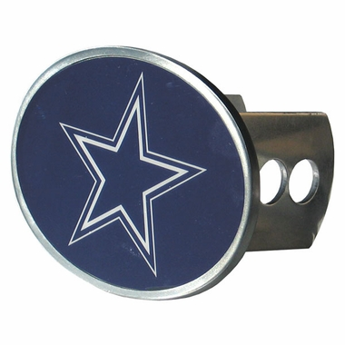 Dallas Cowboys Oval Metal Hitch Cover