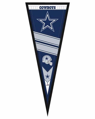 "Dallas Cowboys Pennant Frame - 13""x33"" (No Glass)"