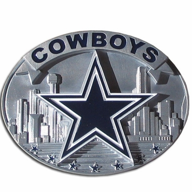 Dallas Cowboys Enameled Belt Buckle